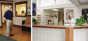 www.istockphoto.com #3316715. A closed design (left) is not a welcoming environment. A more open design (right) offers a greater opportunity to build a relationship.
