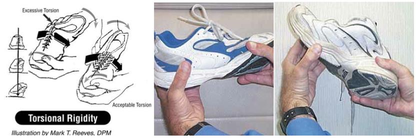 Resultado de imagen de running shoes torsion