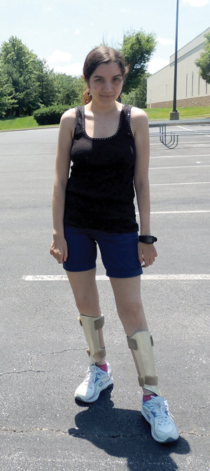Figure 2. Bethany Meloche goes for a sporty, summer style. (Photo cour- tesy of Bethany Meloche.)
