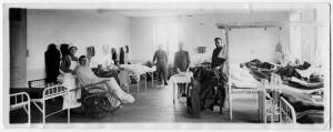 A Word War I-era hospital scene. (Image courtesy of the National World War I Mu- seum, Kansas City, MO.)