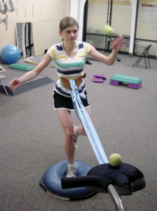 Figure 4. To improve self-efficacy and coping skills it is important that patients un- derstand the relevance of each exercise in terms of how it could help improve their knee function and how it might relate to the quality-of-life enhancing vocational, recreational, or sporting activities they value.