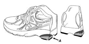 Figure 5. The dual-density midsole (A).