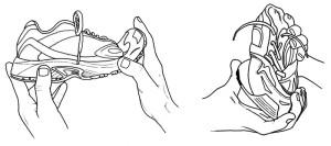 Figure 6. Evaluating midsole stiffness.