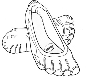 Figure 9. The Vibram FiveFingers running shoe is designed to mimic barefoot activity
