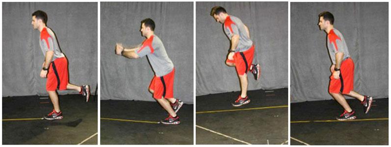 Figure 2. Single-leg hop for distance (SLHOP).