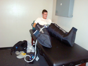 Figure 4. David Boudia, USA Diving team member and London 2012 Olympic champion, using PPC to enhance his diving performance and recovery.