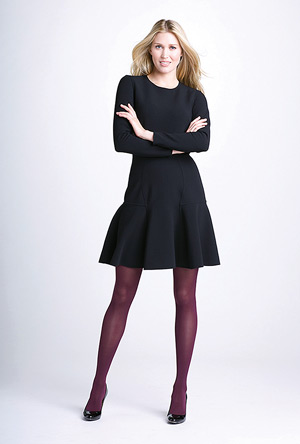 For women, fashionable medical compression options include full-length pantyhose in addition to calf-high or thigh-high stockings; all lengths can provide up to 30-40 mm Hg of compression. (Photo courtesy of Sigvaris USA.)