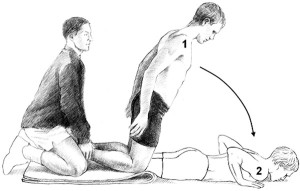 Figure 1: The Nordic hamstring exercise. (Reprinted with permission from Arnason A, Andersen TE, Holme I, et al. Prevention of hamstring strains in elite soccer: an intervention study. Scand J Med Sci Sports 2008;18[1]:40-48.)23