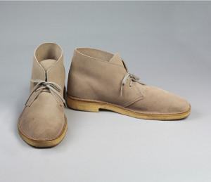 Desert boots, light brown suede, by Clarks, 1994. © Victoria and Albert Museum, London