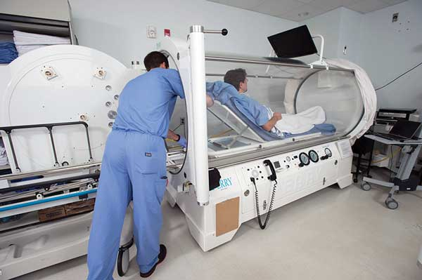 The Department of Plastic Surgery at MedStar Georgetown University Hospital in Washington DC has a four-chamber hyperbaric oxygen facility. (Photo courtesy of MedStar Georgetown University Hospital.)