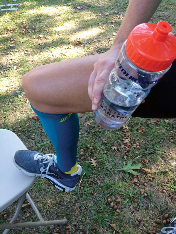 Figure 2. Runners in the sock group were given compression socks and instructed to wear them throughout the duration of the marathon.