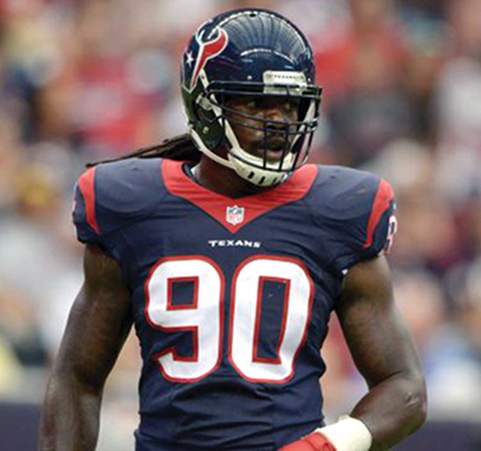 Figure 4. National Football League players who have tried BFR training include the Houston Texans' Jadeveon Clowney, who was recovering from microfracture surgery on his right knee following a lateral meniscus tear.