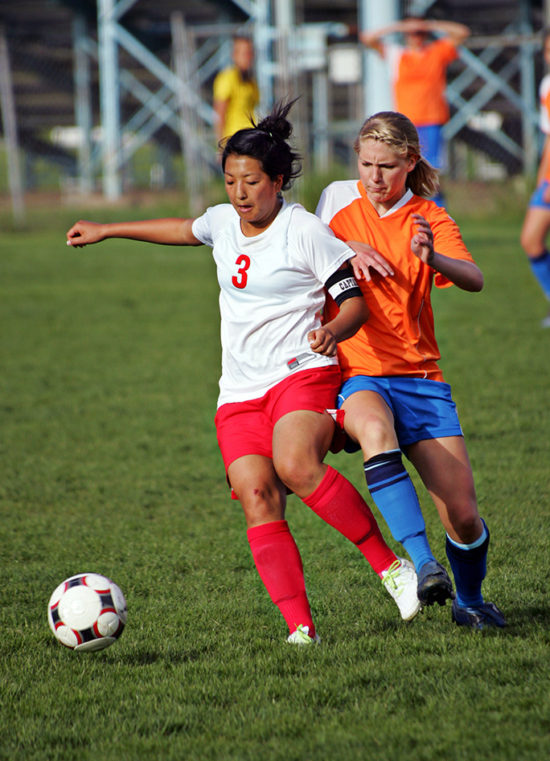 photo of girls playing soccer № 17715